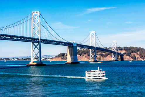 San Francisco Bay Bridge and Ferry